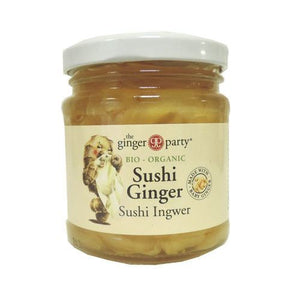 Ginger Party | Organic Pickled Sushi Ginger | 1 x 190g | Ginger Party