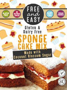 Free & Easy | Lemon & Poppyseed Cake Mix With Blend Of Coconut Blossom Su | 1 X 350g. Sold By Superfood Market