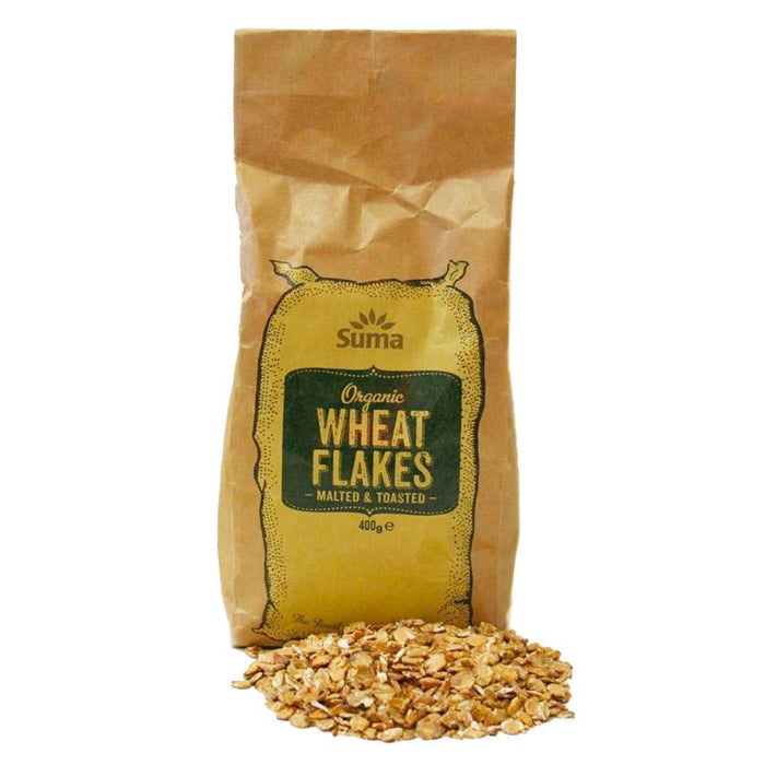 Suma Prepacks - Organic | Toasted Malted Wheat Flakes Og | 1 x 400g