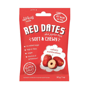 Abakus Foods | Abakus  Dried Pitted Jujube Fruit (red Dates) | 12 x 30g