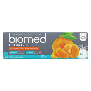 Biomed | Toothpaste - Citrusfresh | 1 x 100g | Biomed
