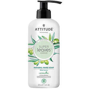 Attitude | Super Leaves Hand Soap Olive Leaves | 1 x 473ml | Attitude