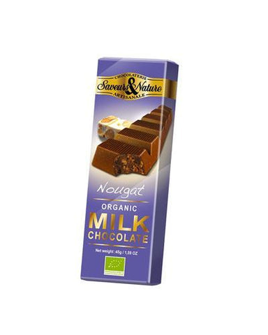Saveurs & Nature | Milk Chocolate With Montelimar Nougat | 1 x 45g