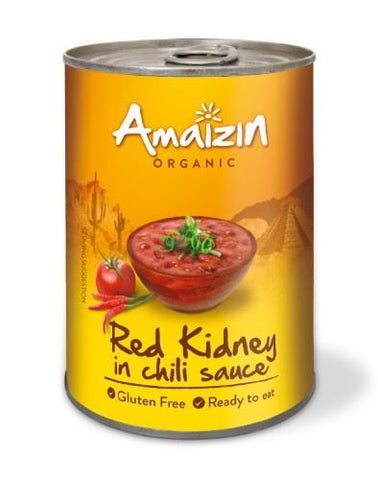 Amaizin | Red Kidney Beans In Chilli Sauce | 1 x 400g