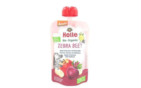 Holle | Zebra Beet - Apple Banana Beetroot | 1 X 100g. Sold By Superfood Market