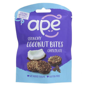 Ape Snacks | Coconut Bites Chocolate | 1 X 26g. This Product Is :- Gluten Free,vegan
