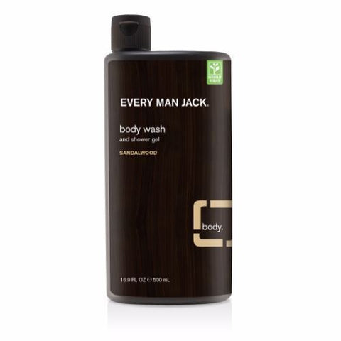 Every Man Jack | Body Wash - Sandalwood | 1 X 500ml. Sold By Superfood Market