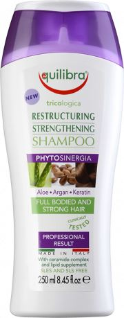 Equilibra | Aloe Vera Restructuring & Strenghtening Shampoo | 1 X 250ml. Sold By Superfood Market