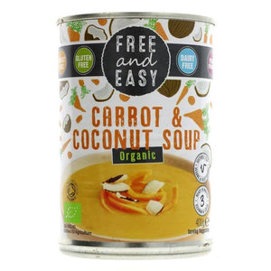 Free & Easy | Carrot & Coconut Soup | 1 x 400g | Free & Easy
