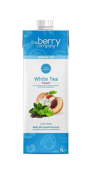 Berry Company | White Tea & Peach Juice Drink | 1 x 1l | Berry Company