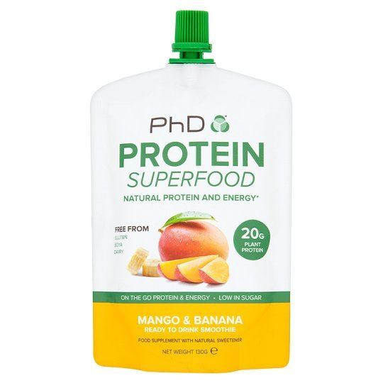 Phd Nutrition | Protein S/food Smoothie Rtd - Banana & Mango | 1 x 130g