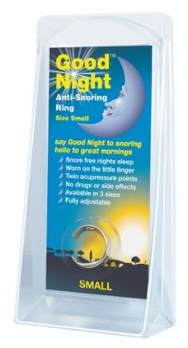 Good Night | Good Night Anti Snoring Ring - Small | 1 x Small | Good Night