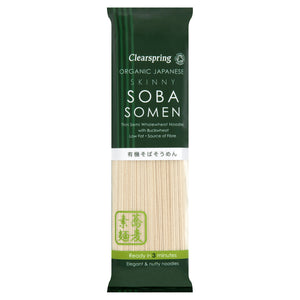 Clearspring | Skinny Soba Somen Noodles | 1 x 200g | Clearspring