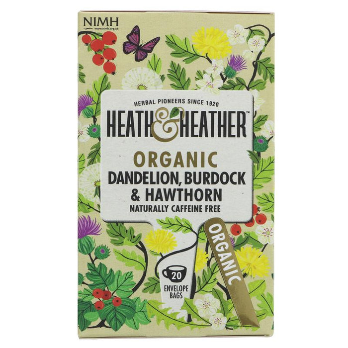 Heath & Heather | Dandelion,burdock & Hawthorn | 1 x 20 Bags
