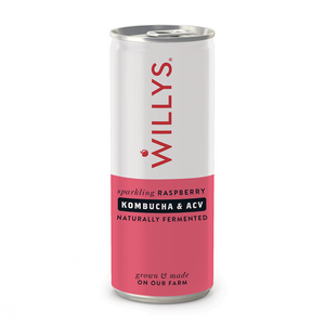 Willys | Willys Sparkling Raspberry Kombucha & Acv Drink | 1 x 250ml