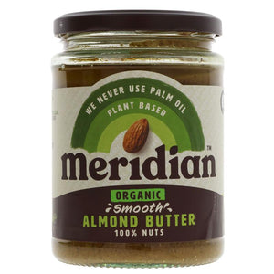 Meridian | Organic Smooth Almond Butter | 1 x 470g | Meridian
