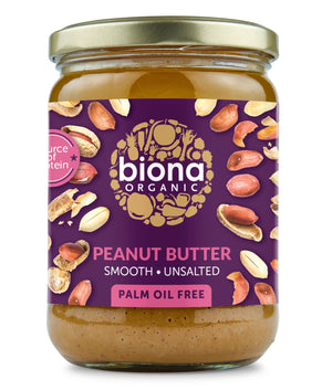 Biona | Peanut Butter - Smooth No Added Salt | 1 x 500g | Biona