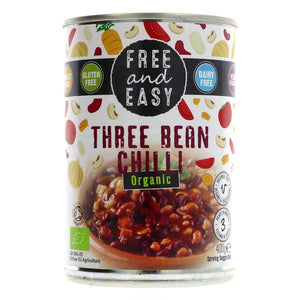Free & Easy | Three Bean Chilli - Og | 1 x 400g