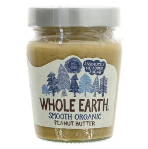 Whole Earth | Peanut Butter - Smooth Organic | 1 x 227g