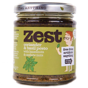 Zest | Coriander & Basil Pesto | 1 X 165g. Sold By Superfood Market