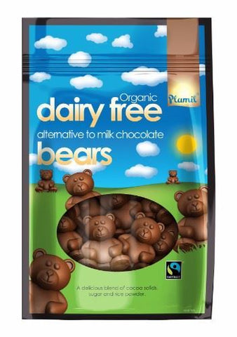 Plamil | Ft Alternative To Milk Chocolate Bears In Bag | 1 x 125g