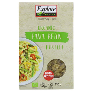 Explore Cuisine | Fava Bean Fusilli | 1 X 250g. Sold By Superfood Market