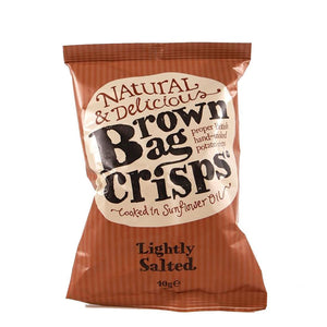 Brown Bag Crisps | Lightly Salted | 20 x 40g | Brown Bag Crisps