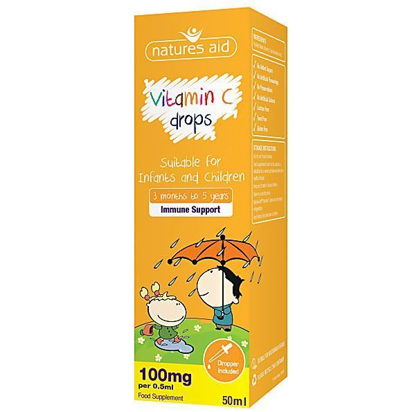 Natures Aid | Children's Vitamin C Drops | 1 x 50ml