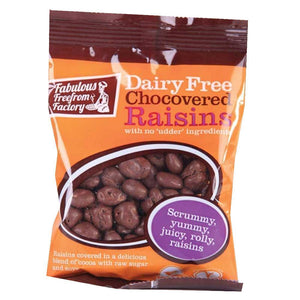 Fabulous Free From Factory | Dairy Free Chocolate Raisins | 1 x 75g | Fabulous Free From Factory