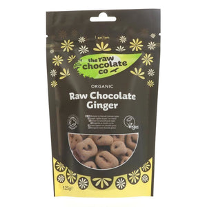 The Raw Chocolate Co | Raw Chocolate Covered Ginger | 1 X 125g. This Product Is :- Vegan,organic