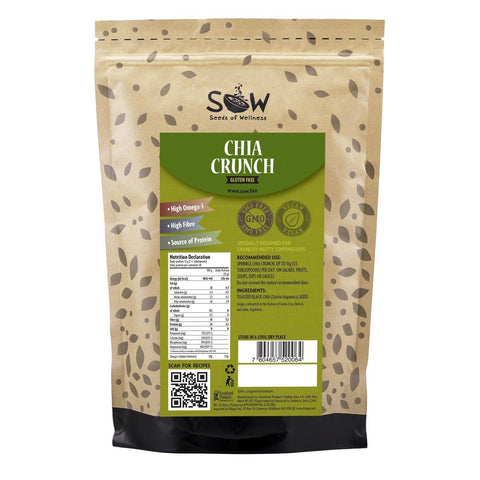 Sow | Chia Crunch - Toasted Black Chia Seeds | 1 x 454g