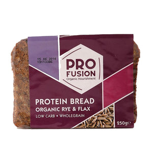 Profusion | Protein Bread - Rye / Flax | 1 X 250g. This Product Is :- Organic