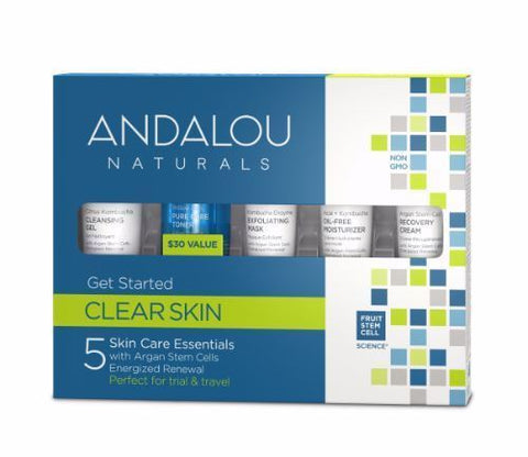 Andalou | Clear Skin Get Started Kit | 1 x 5 Pieces