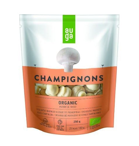 Auga | Marinated Whole Organic Champignons | 1 x 250g