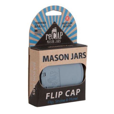 2tech Limited A | Recap  Flip Mason Jar Lid - Regular Mouth  Black | 1 x Single