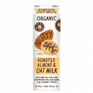 Nutty Bruce | Nutty Bruce  Activated Unsweetened Almond & Oat M*lk | 1 X 1ltr. Sold By Superfood Market
