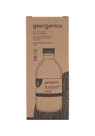 Georganics | Oil Pulling Mouthwash Charcoal | 1 X 100ml. Sold By Superfood Market
