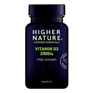 Higher Nature | Vitamin D3 2000iu Capsules | 1 x 120s | Higher Nature