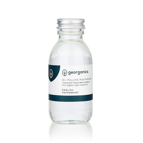 Georganics | Oil Pulling Mouthwash English Peppermint | 1 X 100ml. Sold By Superfood Market