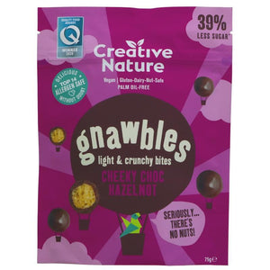 Creative Nature | Gnawbles - Choc Hazelnot | 1 x 75g. Sold By Superfood Market