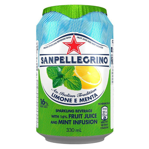 Nestle Waters Uk Ltd A | San Pellegrino Fruit Beverage - Lemon & Mint | 1 x 330ml