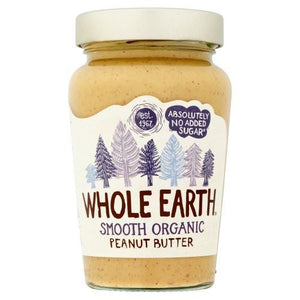 Whole Earth | Peanut Butter - Organic Smooth | 1 x 340g