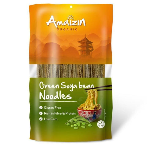 Amaizin | Organic Soya Bean Noodles Green | 1 X 200g. Sold By Superfood Market