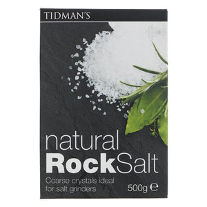 Tidmans | Tidmans Rock Salt | 1 X 500g. This Product Is :- Vegan