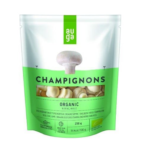Auga | Whole Organic Champignons In Brine | 1 x 250g