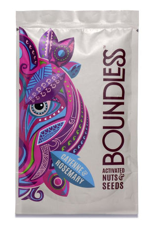 Boundless | Cayenne & Rosemary Activated Nuts & Seeds | 1 X 30g. Sold By Superfood Market