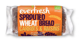 Everfresh Natural Foods | Sprouted Carrot & Raisin Cake | 1 x 350g | Everfresh Natural Foods