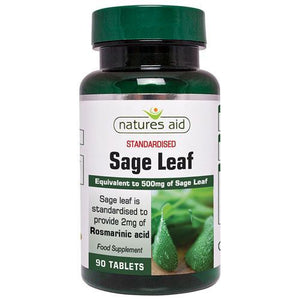 Natures Aid | Sage Leaf 50mg (500mg Equivalent) | 1 x 90s | Natures Aid