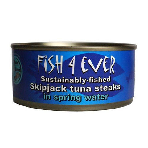 Fish 4 Ever | Skipjack Tuna Steaks In Spring Water | 1 x 160g
