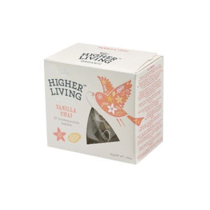 Higher Living | Vanilla Chai Teapees | 1 x 20 Bags | Higher Living